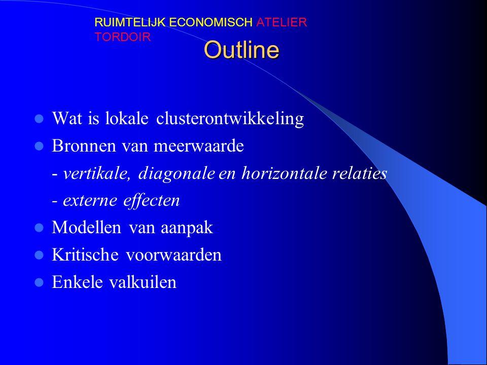 Outline Wat is lokale clusterontwikkeling Bronnen van meerwaarde