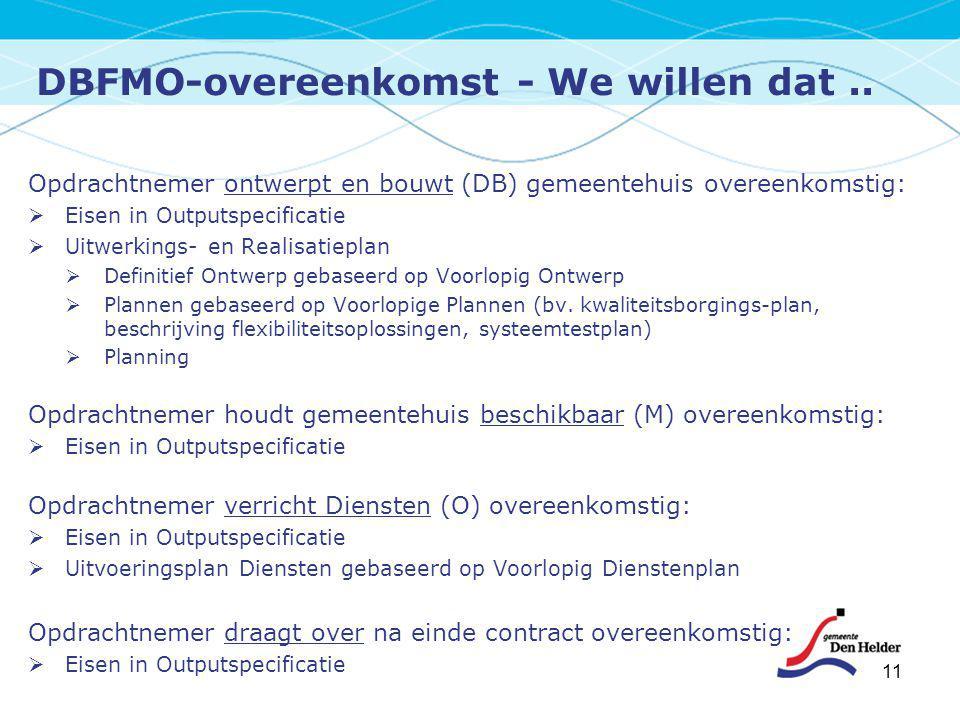 DBFMO-overeenkomst - We willen dat ..