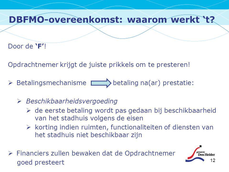DBFMO-overeenkomst: waarom werkt 't