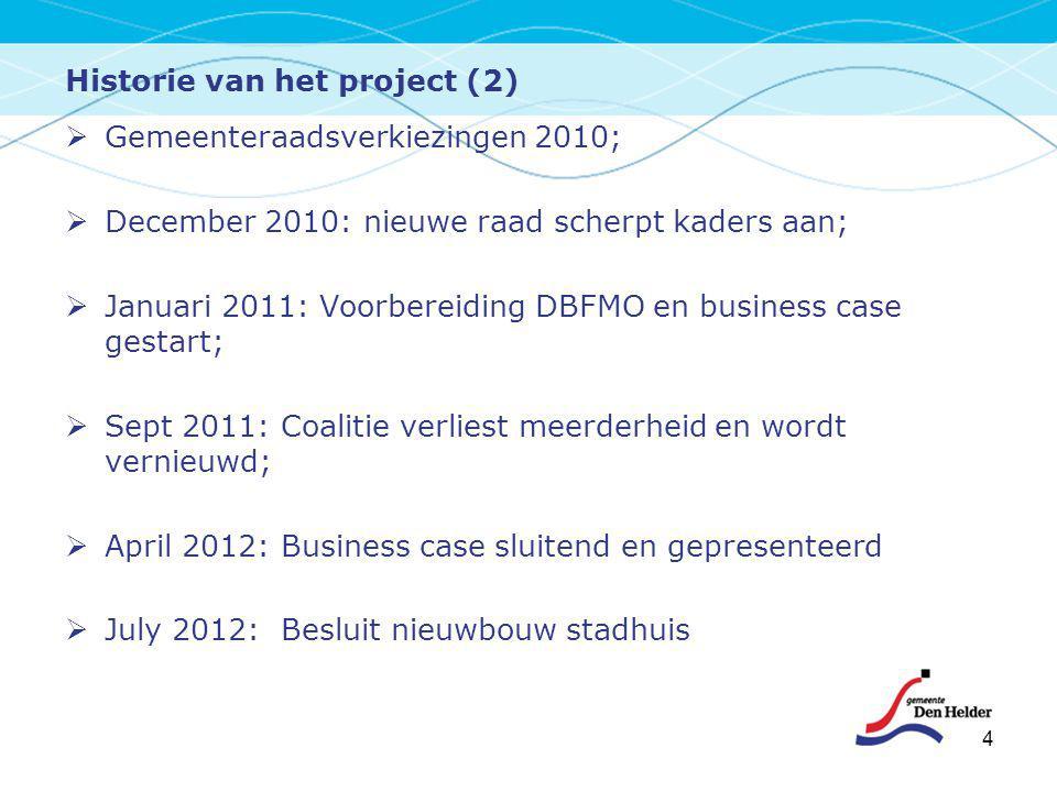 Historie van het project (2)