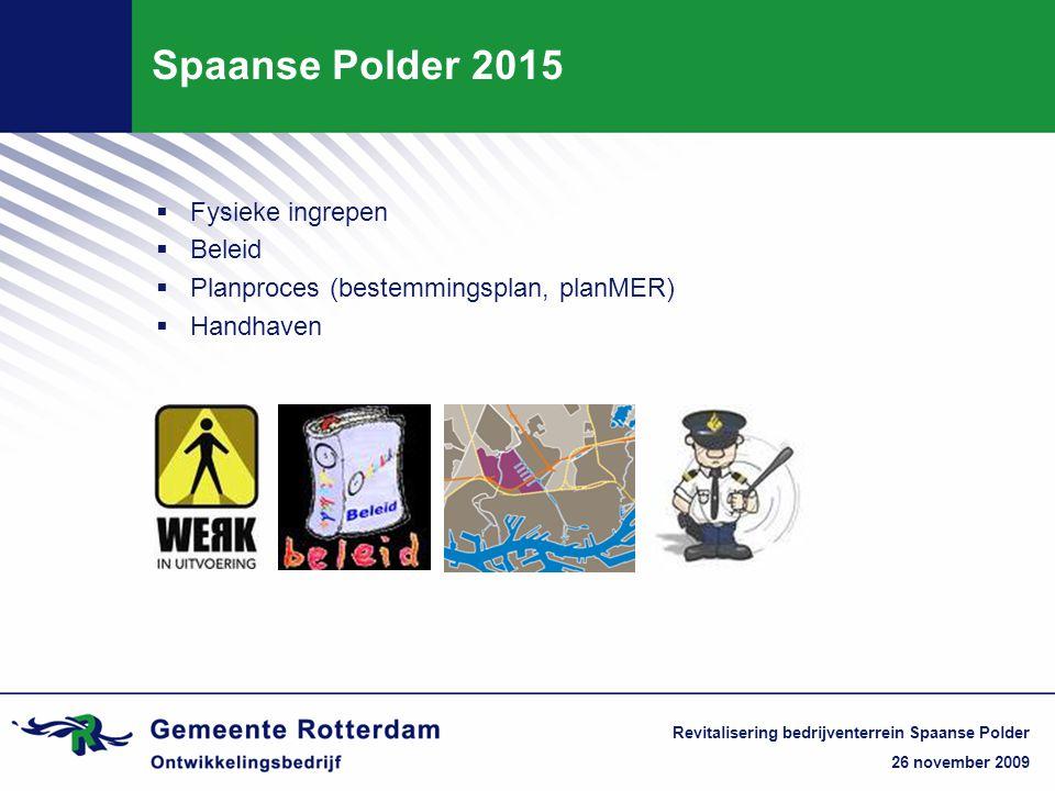 Spaanse Polder 2015 Fysieke ingrepen Beleid