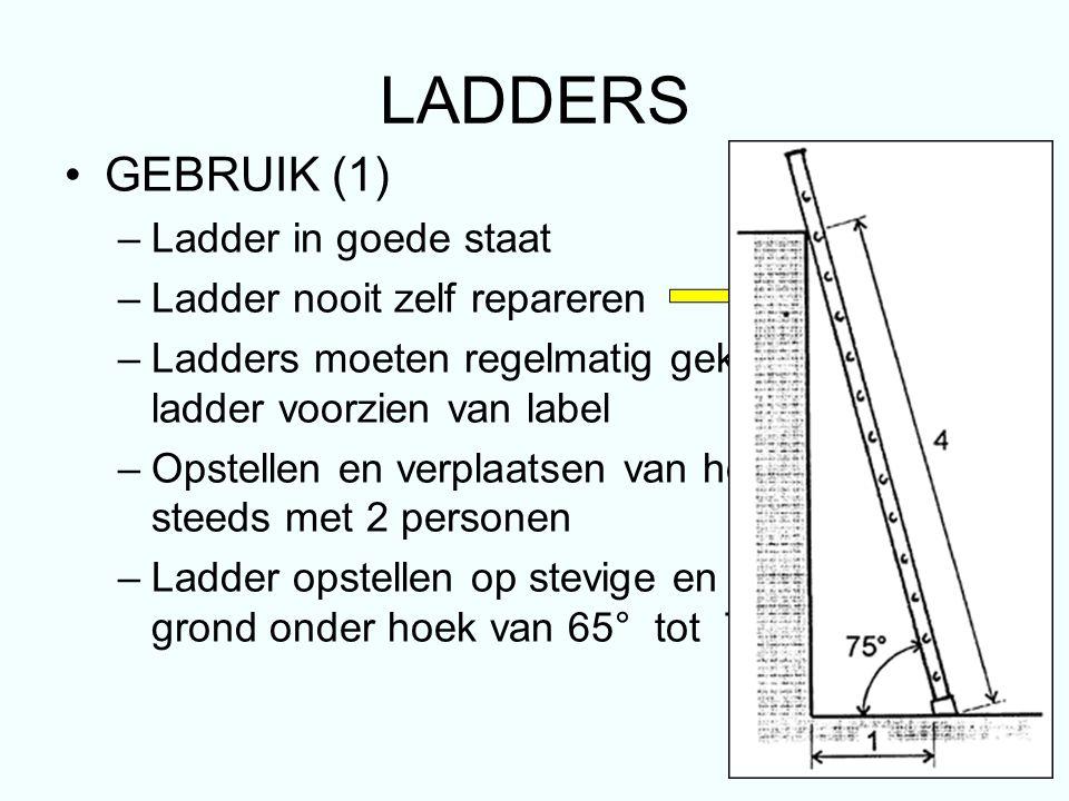 LADDERS GEBRUIK (1) Ladder in goede staat
