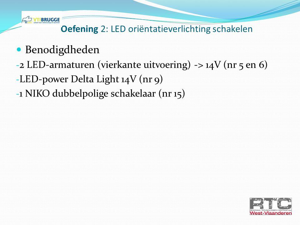 Oefening 2: LED oriëntatieverlichting schakelen