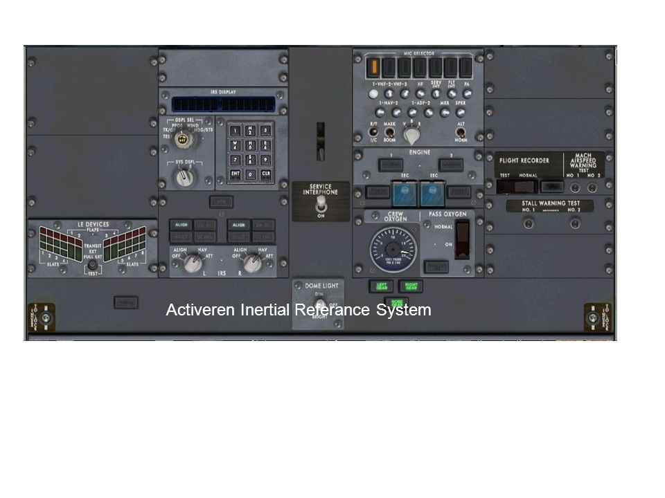 Activeren Inertial Referance System