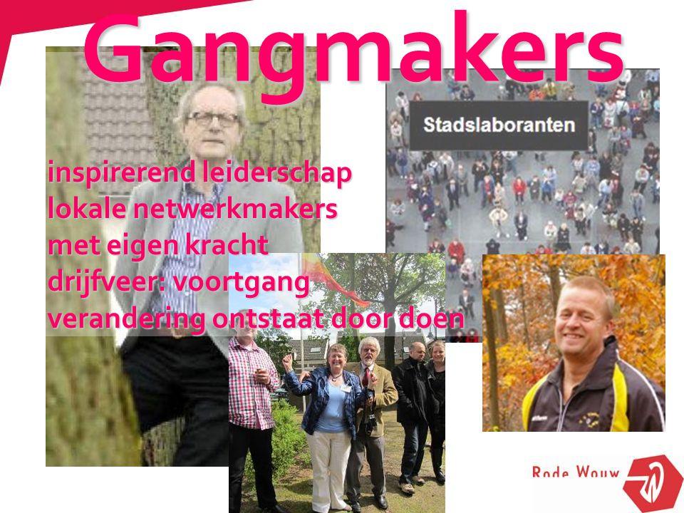 Gangmakers inspirerend leiderschap lokale netwerkmakers