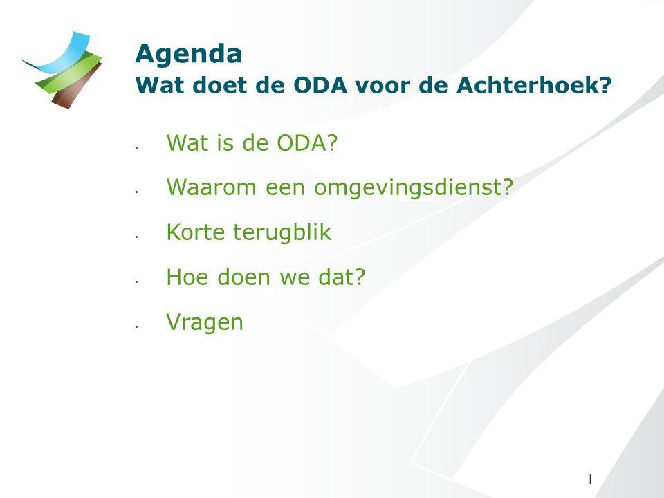 Agenda Wat doet de ODA voor de Achterhoek