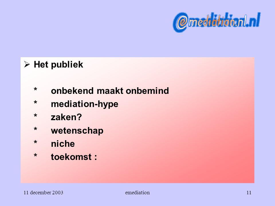 * onbekend maakt onbemind * mediation-hype * zaken * wetenschap