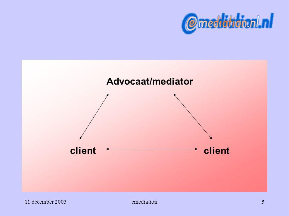 Advocaat/mediator client client