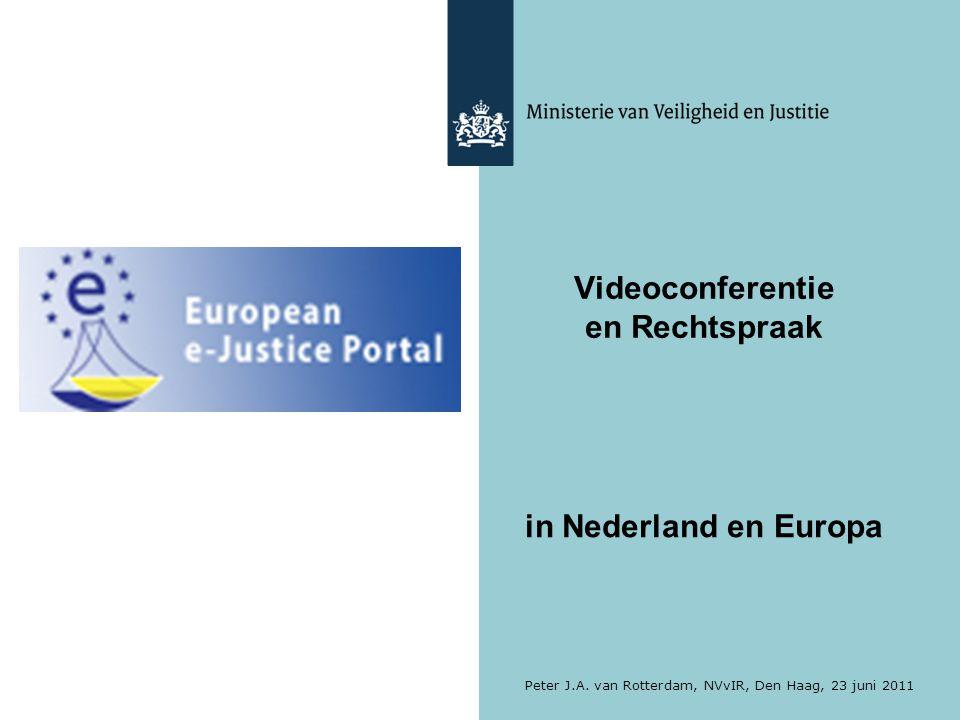 Videoconferentie en Rechtspraak