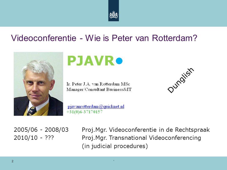 Videoconferentie - Wie is Peter van Rotterdam