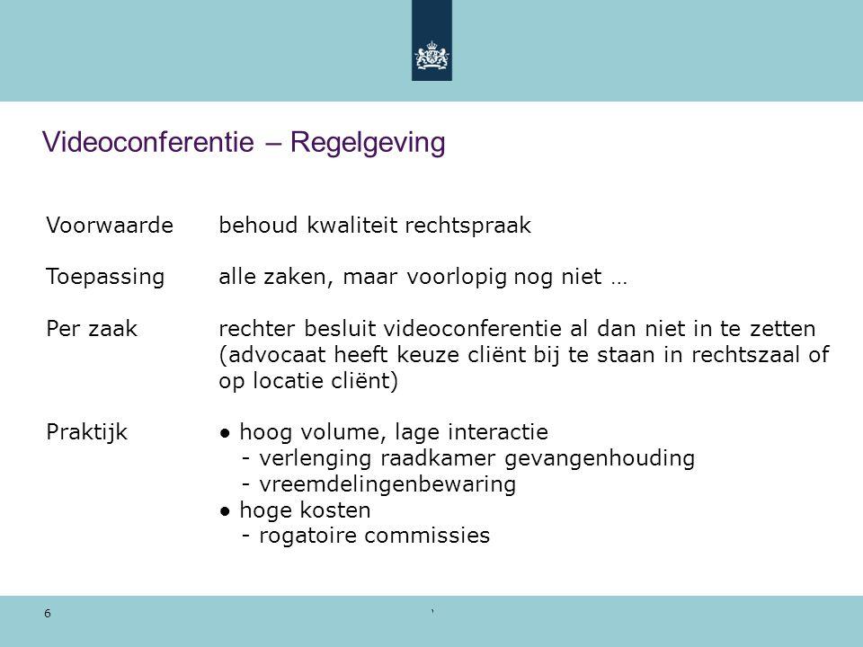 Videoconferentie – Regelgeving