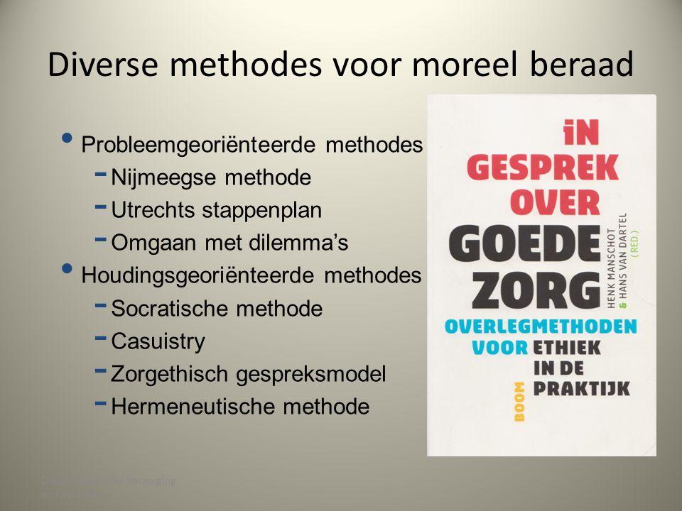 Diverse methodes voor moreel beraad