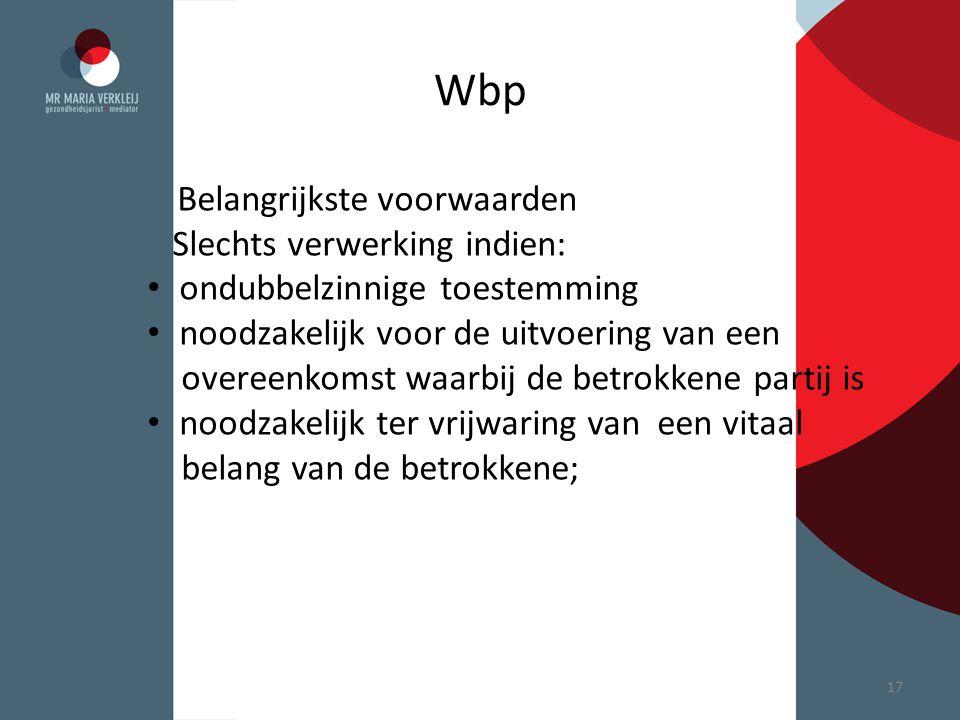 Wbp Slechts verwerking indien: ondubbelzinnige toestemming