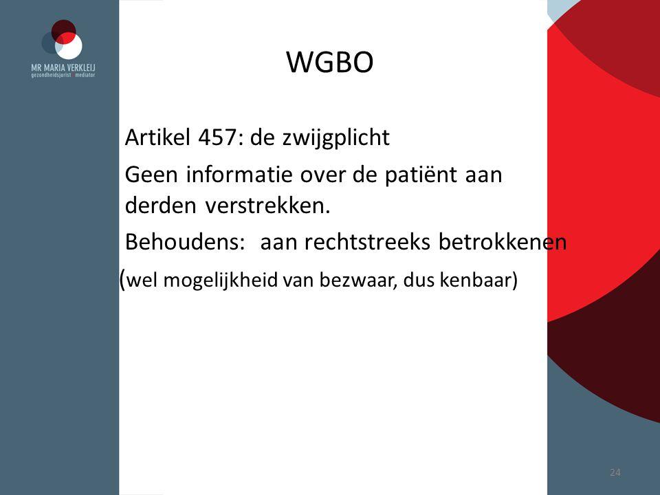WGBO Artikel 457: de zwijgplicht