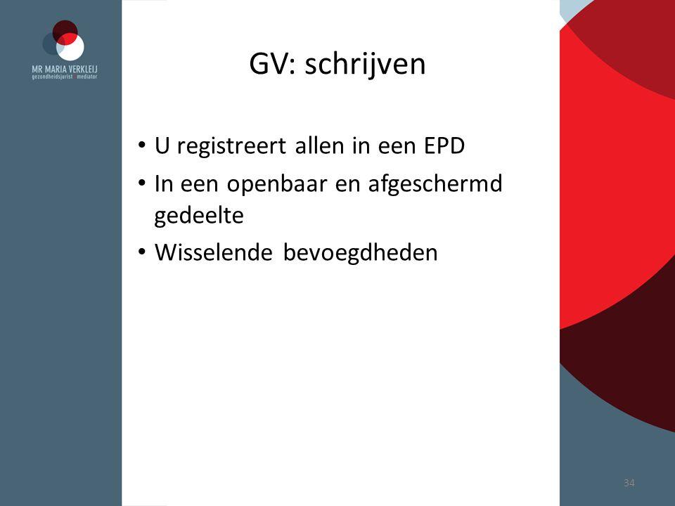 GV: schrijven U registreert allen in een EPD