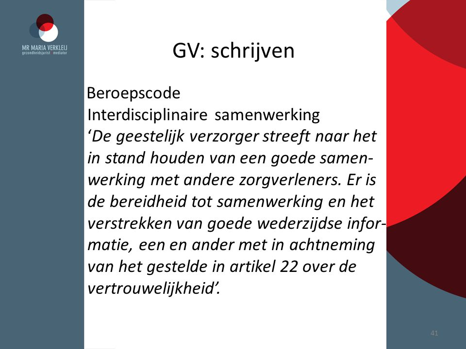 GV: schrijven Interdisciplinaire samenwerking