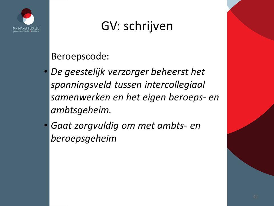 GV: schrijven Beroepscode: