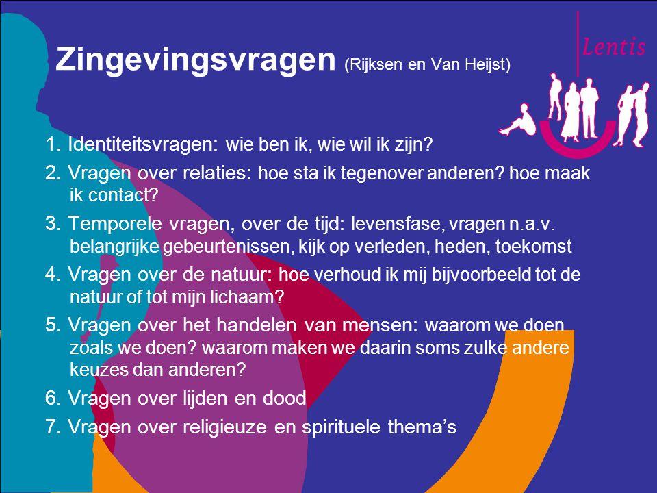 Zingevingsvragen (Rijksen en Van Heijst)
