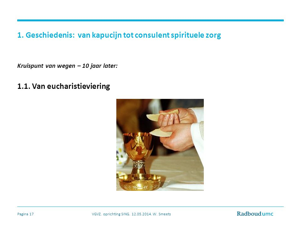 1. Geschiedenis: van kapucijn tot consulent spirituele zorg