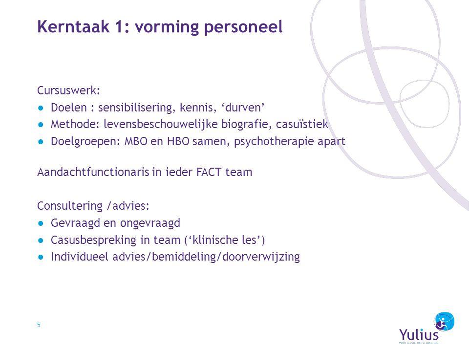 Kerntaak 1: vorming personeel