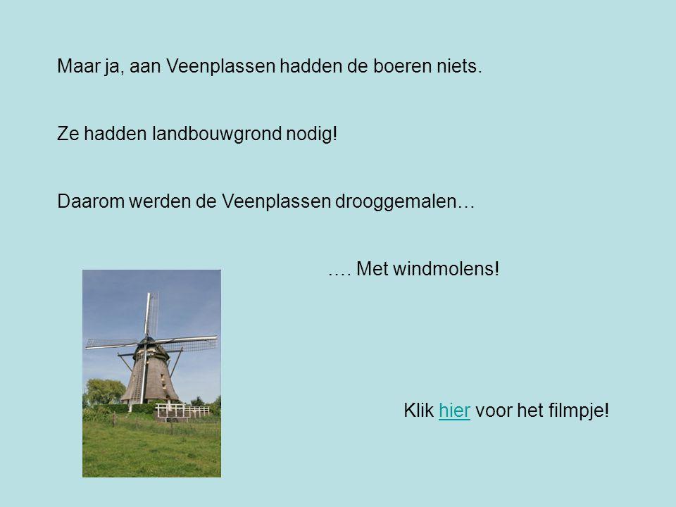 Maar ja, aan Veenplassen hadden de boeren niets.