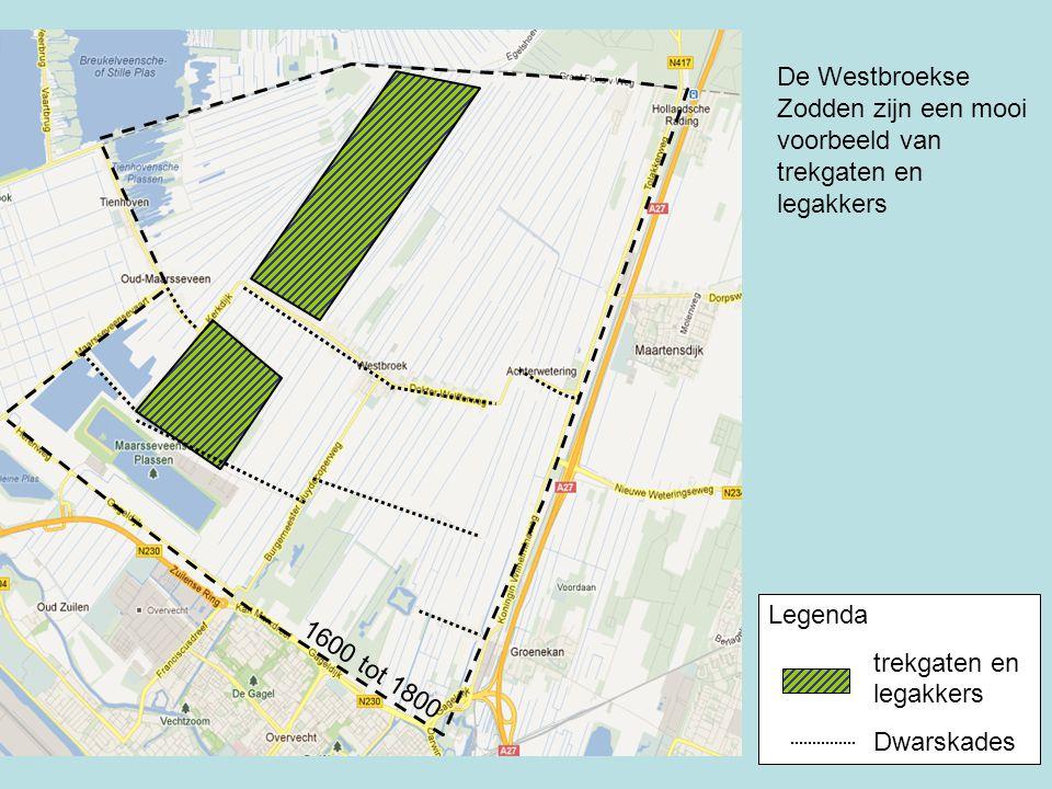 De Westbroekse Zodden zijn een mooi voorbeeld van trekgaten en legakkers