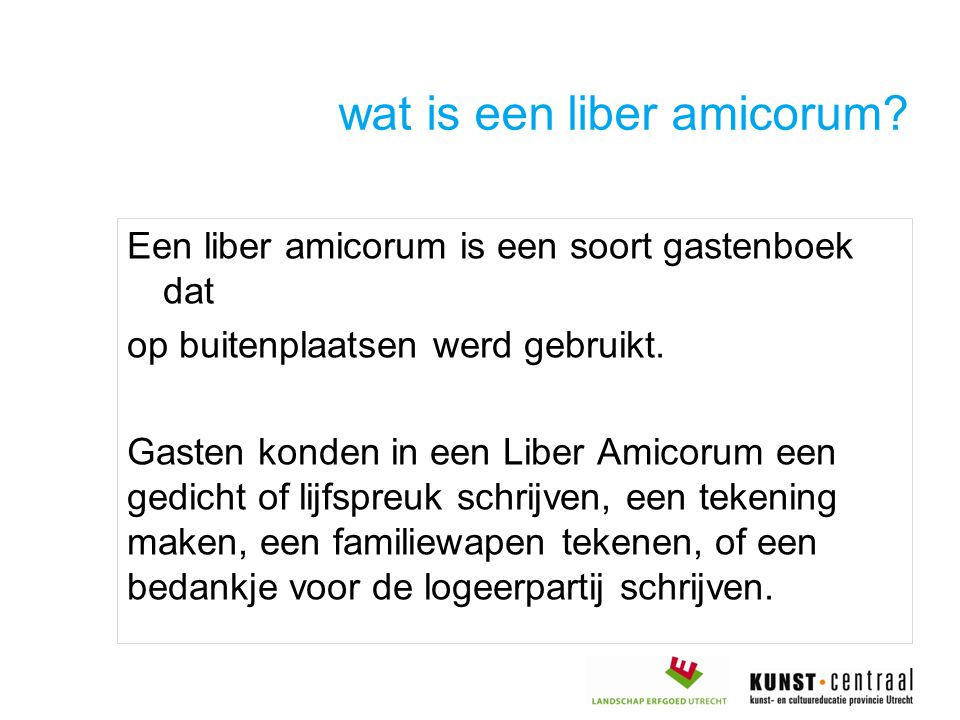wat is een liber amicorum