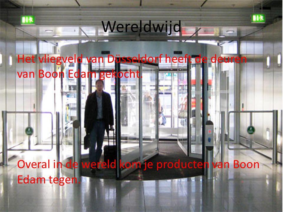 Wereldwijd Het vliegveld van Düsseldorf heeft de deuren van Boon Edam gekocht.