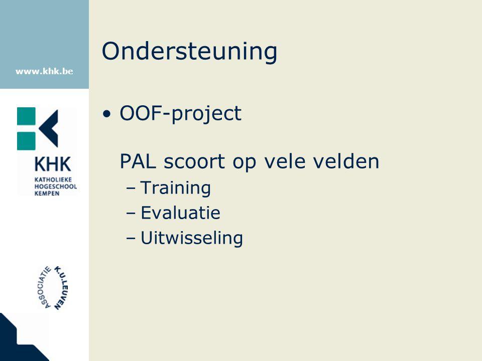 Ondersteuning OOF-project PAL scoort op vele velden Training Evaluatie