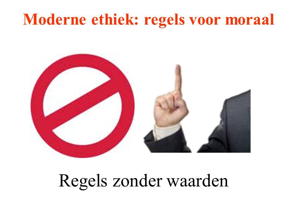 Moderne ethiek: regels voor moraal