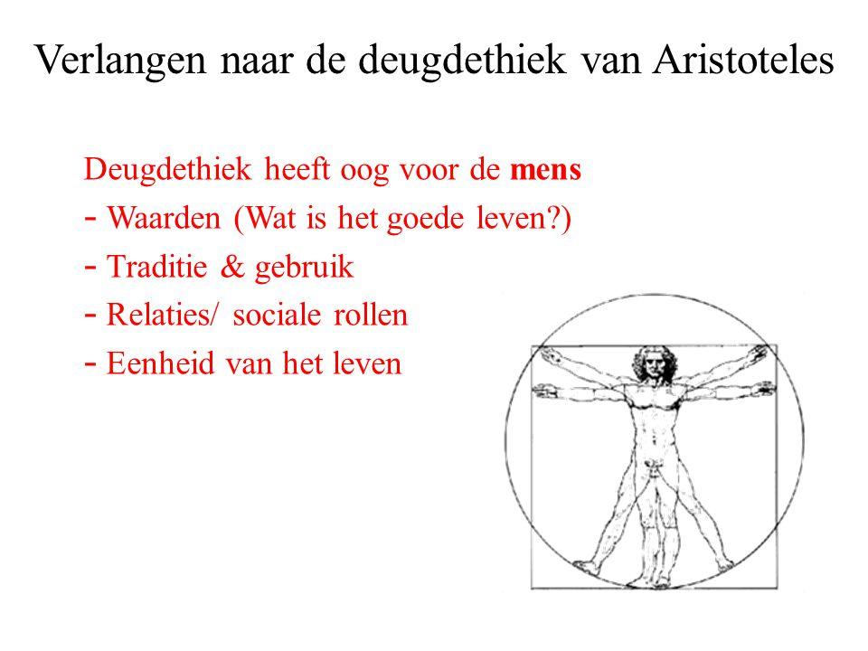 Verlangen naar de deugdethiek van Aristoteles