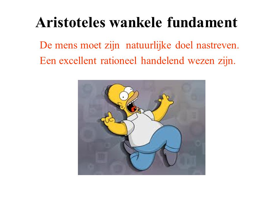 Aristoteles wankele fundament