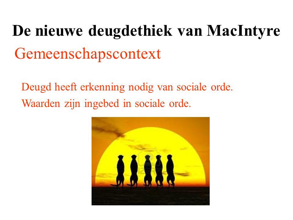 De nieuwe deugdethiek van MacIntyre Gemeenschapscontext