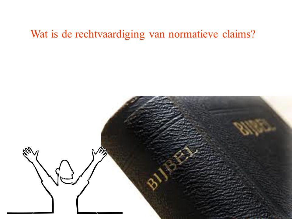 Wat is de rechtvaardiging van normatieve claims