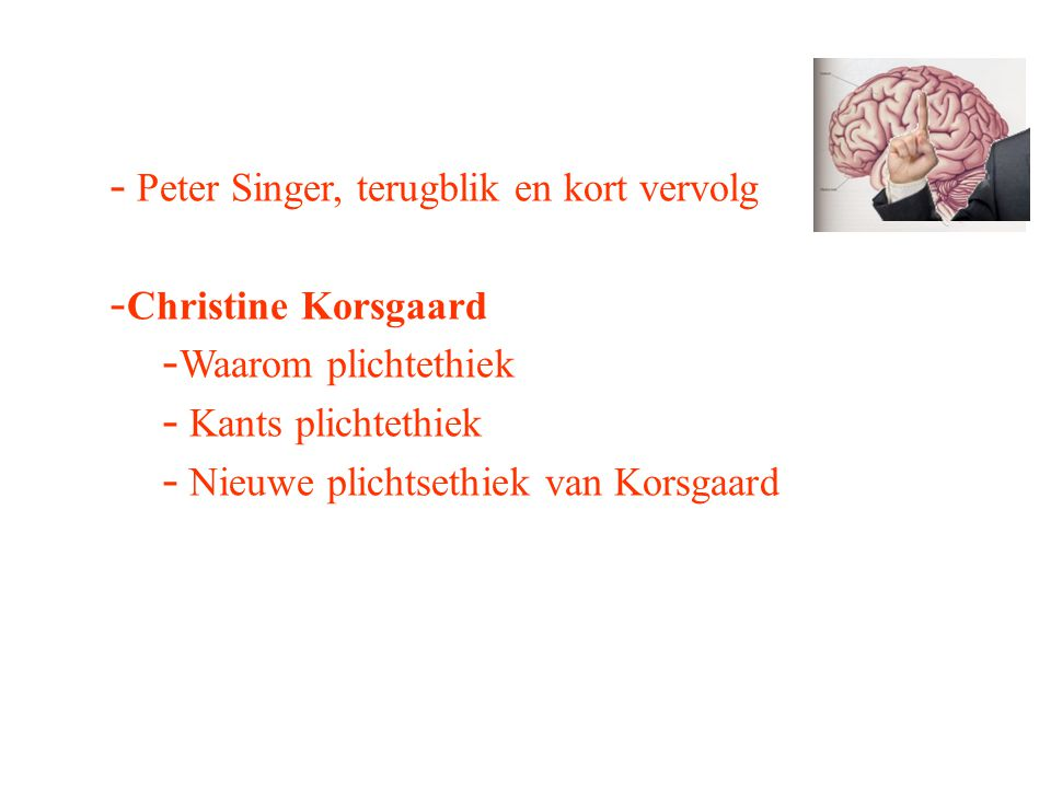 Peter Singer, terugblik en kort vervolg