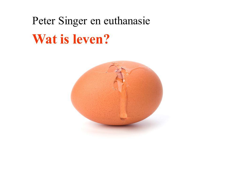 Peter Singer en euthanasie