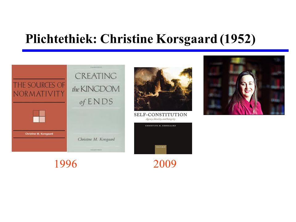 Plichtethiek: Christine Korsgaard (1952)