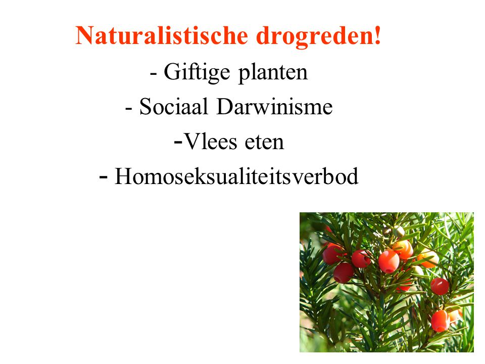 Naturalistische drogreden!