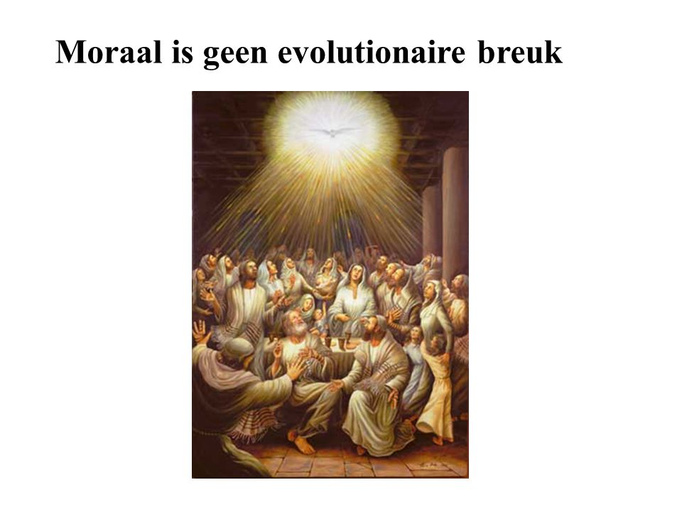 Moraal is geen evolutionaire breuk