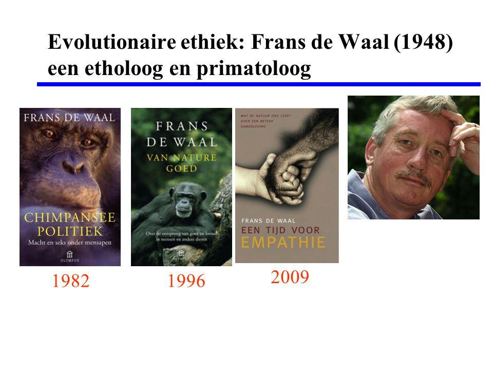 Evolutionaire ethiek: Frans de Waal (1948) een etholoog en primatoloog