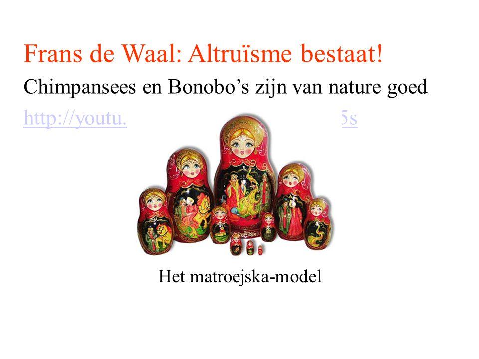 Frans de Waal: Altruïsme bestaat!