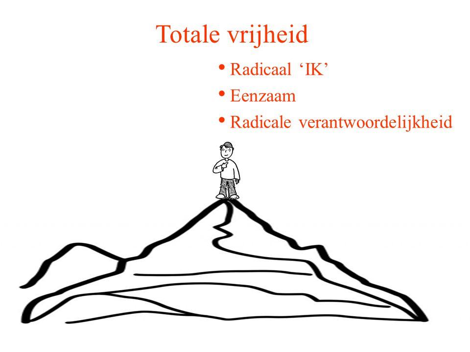 Totale vrijheid Radicaal 'IK' Eenzaam Radicale verantwoordelijkheid