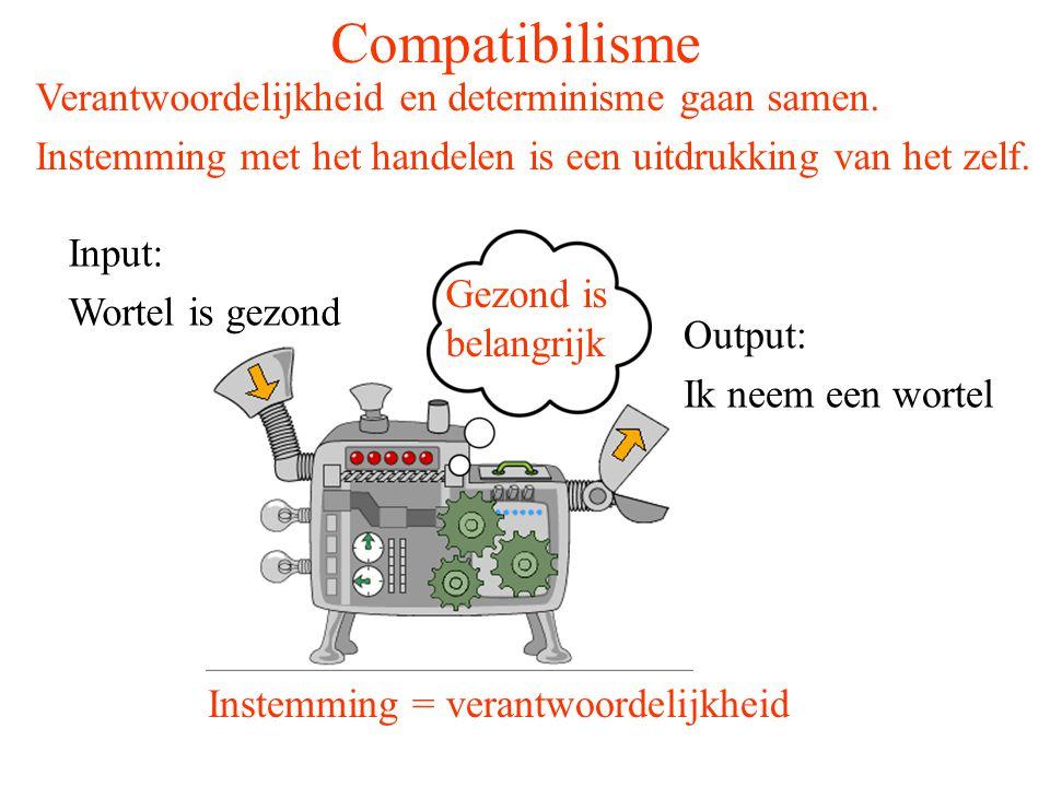 Compatibilisme Verantwoordelijkheid en determinisme gaan samen.