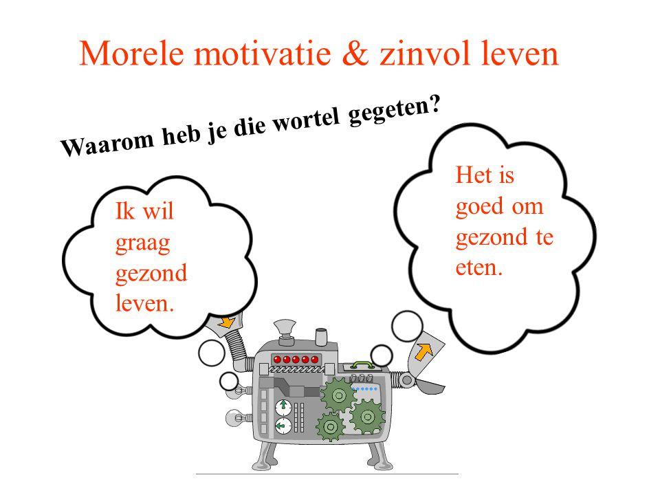Morele motivatie & zinvol leven