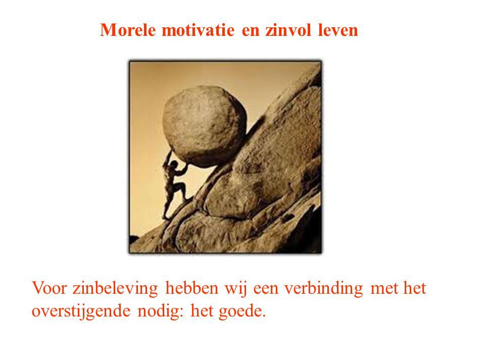Morele motivatie en zinvol leven