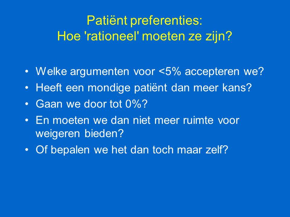 Patiënt preferenties: Hoe rationeel moeten ze zijn