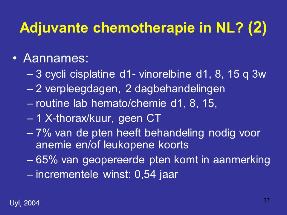 Adjuvante chemotherapie in NL (2)