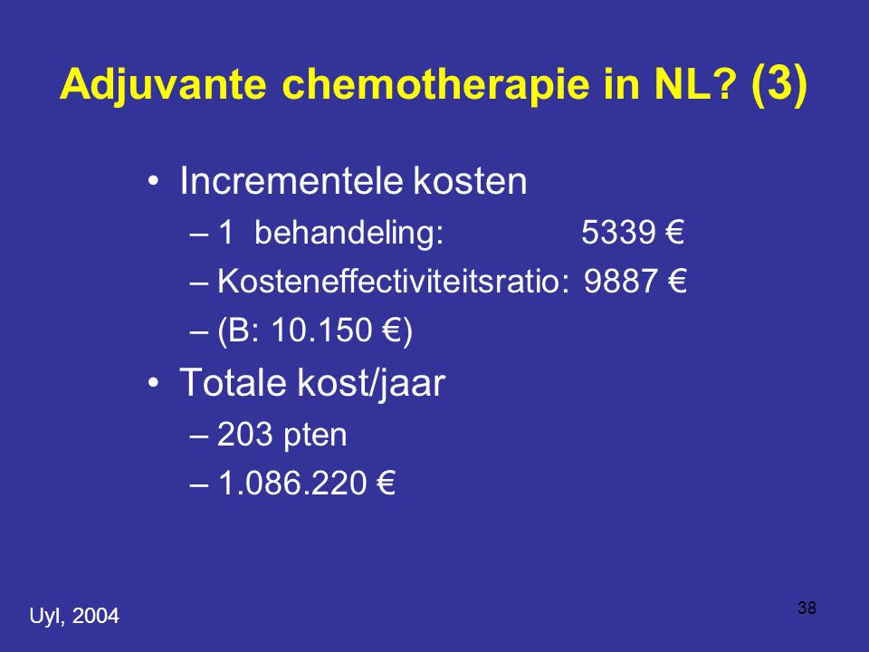 Adjuvante chemotherapie in NL (3)