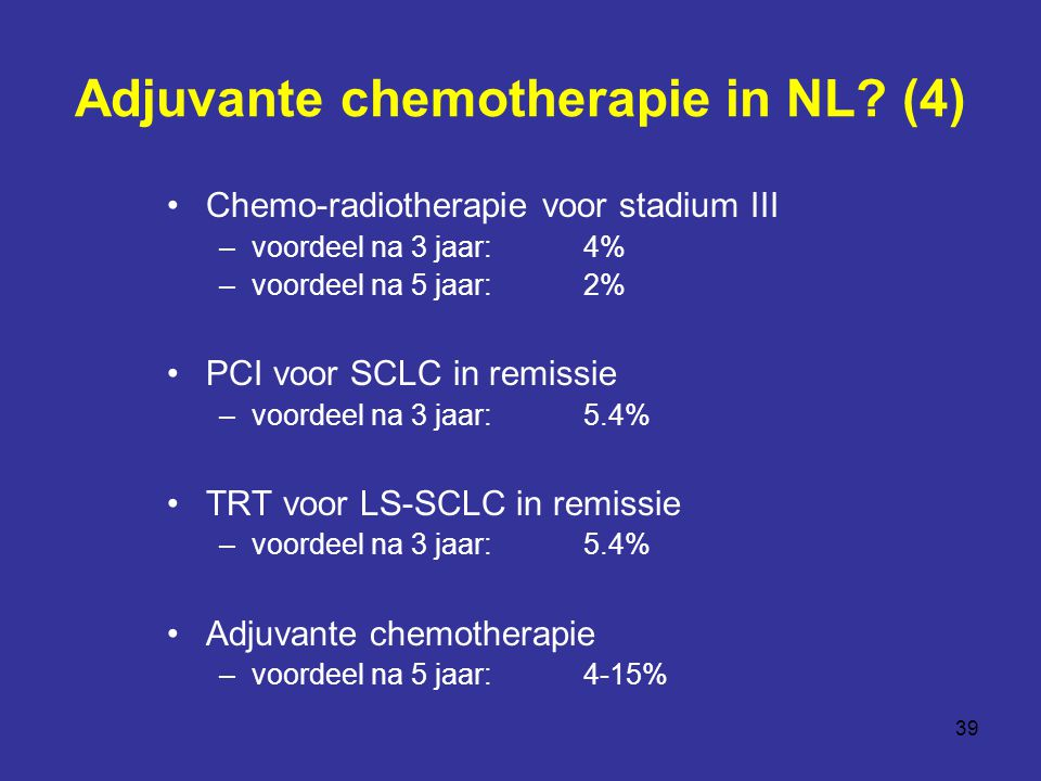 Adjuvante chemotherapie in NL (4)