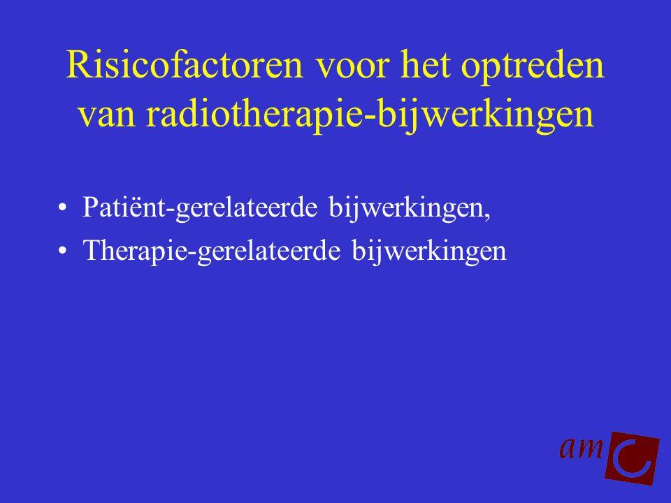 Risicofactoren voor het optreden van radiotherapie-bijwerkingen